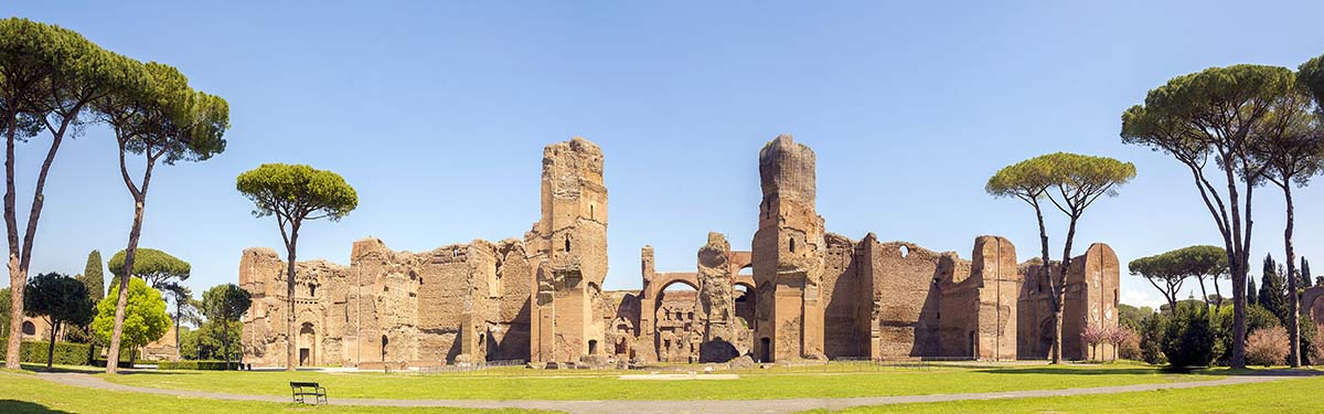 Die Caracalla-Thermen in Rom