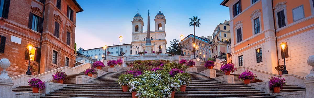 Die Spanische Treppe In Rom Piazza Di Spagna